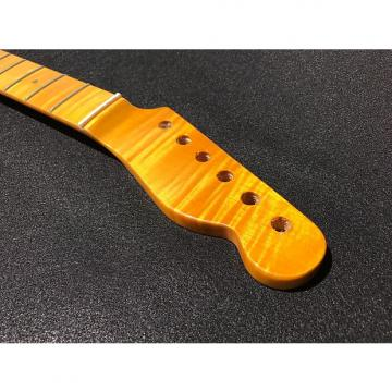 Custom TOG Flame Maple Tele Telecaster Neck One Piece Vintage Amber # 16