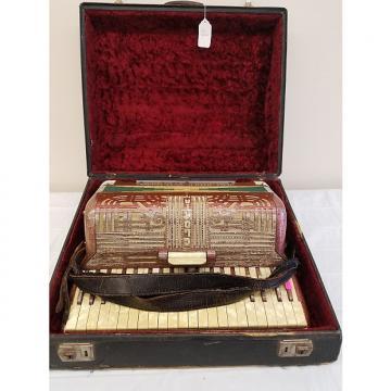 Custom Vintage Italo-American Accordion w/Case (For Repair)
