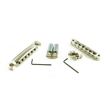 Custom Tone Pros LPNS02/NKL TP6 T1ZS Bridge + Tailpiece Set US 4mm Nickel