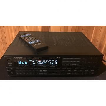 Custom Kenwood KR-V87R surround sound stereo receiver 1988 Black face with remote control