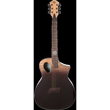 Custom Michael Kelly Forte Port X Partial Eclipse acoustic electric guitar - Port sound hole