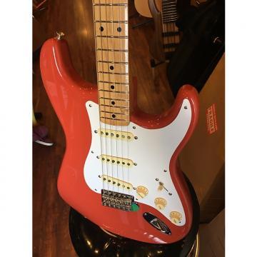 Custom Fender Classic Series '50s Statrocaster Electric Guitar Fiesta Red