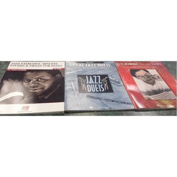 Custom Jazz Piano Books - Oscar Peterson, Antonio Carlos Jobim, Jazz Duets - Book Lot - Free Shipping