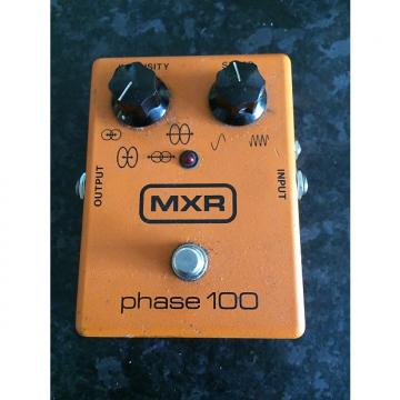 Custom MXR Phase 100 Vintage Block Logo LED Orange