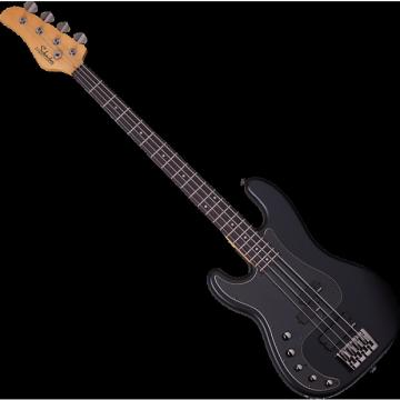 Custom Schecter Diamond-P Custom Active Left-Handed Electric Bass Satin Black