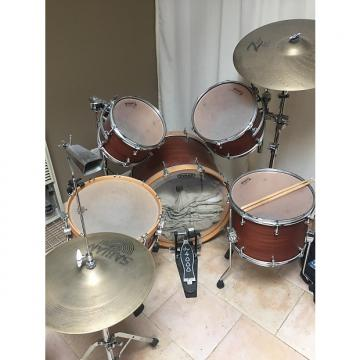 Custom Allegra drums, 5 piece full kit, natural Douglass Fir shells