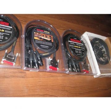 Custom New Mogami Gold Pro Audio db25 cables, Class A Microphone, Aurelux Mopads Set