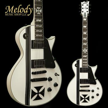 Custom ESP LTD IRON CROSS James Hetfield Signature Series Electric Guitar Snow White