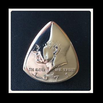 Custom Guitar Pick, 1971 USA Half Dollar Pick / Plectrum