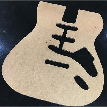Custom Unbranded Stratocaster Style Guitar Body Template