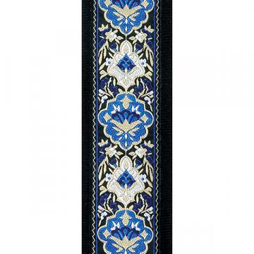 Custom D'Addario 50mm Jacquard Guitar Strap - Blue