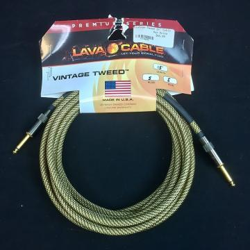 Custom *INVENTORY CLEARANCE* Lava Cables Vintage Tweed 15ft Straight/Straight Guitar Cable