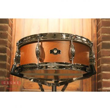 Custom George Way Tradition Mahogany 5.5x14 Natural Snare Drum