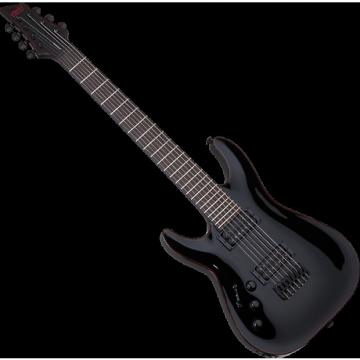 Custom Schecter Blackjack C-7 Left-Handed Electric Guitar in Gloss Black