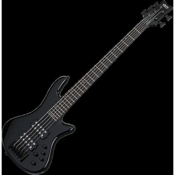 Custom Schecter Stiletto Stage-5 Electric Bass Gloss Black
