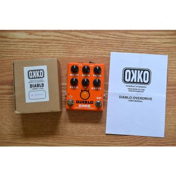 Custom Okko Diablo Plus Overdrive Distortion w/ Box & Manual Orange