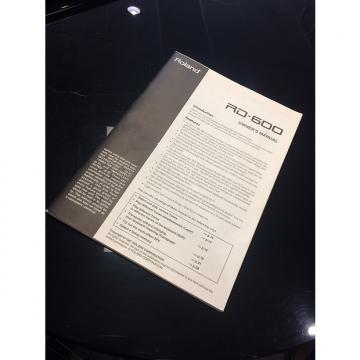 Custom Roland RD-600 Owner's Manual Book