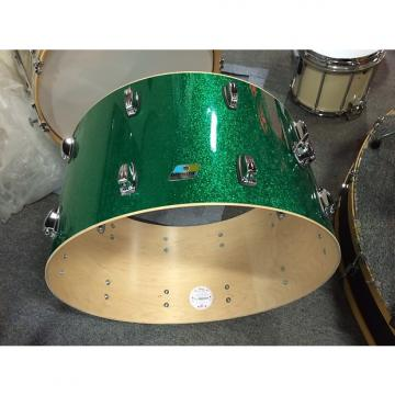 Custom Ludwig classic maple 14x26 bass drum new 2017 Green Sparkle