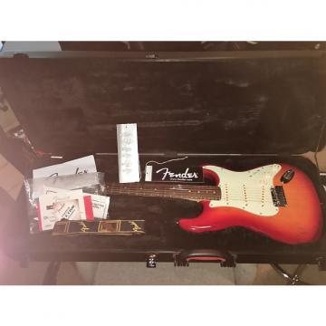 Custom Fender Stratocaster American  Deluxe  2013 Aged Cherry Red sunburst