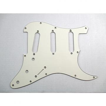Custom MIJ Pickguard for Made in Japan Stratocaster Antique White 3 Ply