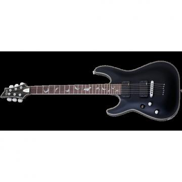 Custom Schecter Damien Platinum-6 Left-Handed Electric Guitar Satin Black