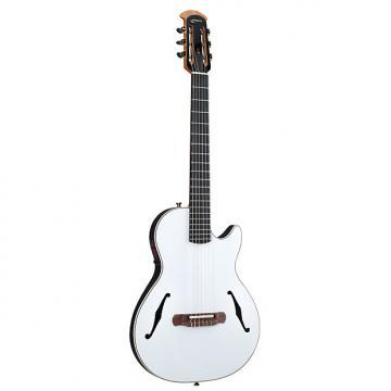 Custom Ovation YM63 Yngwie Malmsteen Viper Nylon-String White Acoustic-Electric Guitar
