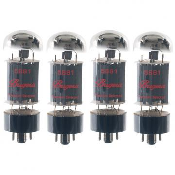 Custom BUGERA 5881-4 Set of Four (4) Matched and Hand-Selected Power Pentode Vacuum Tubes