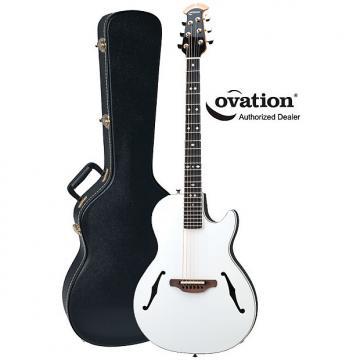 Custom Ovation YM68 Yngwie Malmsteen Viper Steel-String White Acoustic-Electric Guitar