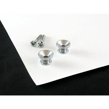 Custom Strap Button Chrome Set of 2 w/ screws for Fender AP 0670-010