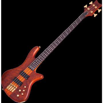 Custom Schecter Stiletto Studio-4 FF Electric Bass Honey Satin