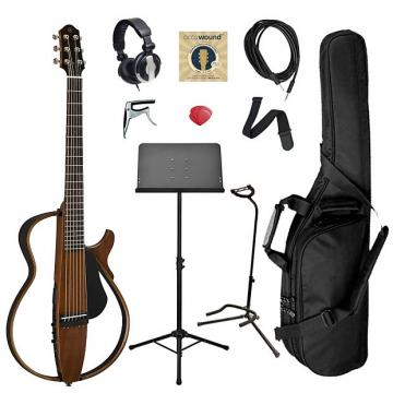 Custom Yamaha SLG200S Steel String Silent Guitar Bundle - Natural
