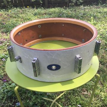 Custom Leedy Snare Drum Shell 1962 Vintage White Marine Pearl