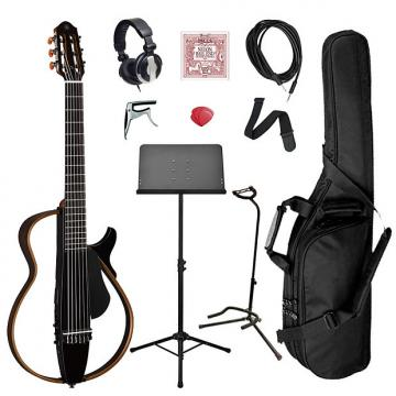 Custom Yamaha SLG200N Classical Silent Guitar Bundle - Black