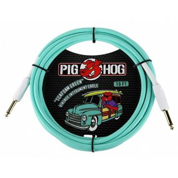 Custom Pig Hog PCH10SG Seafoam Green Instrument Cable 10 Ft