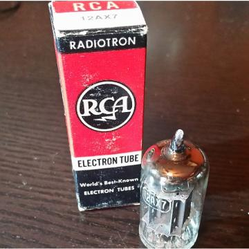 Custom RCA 12AX7 Tube 1960 Long Gray Plates NOS In Original Box