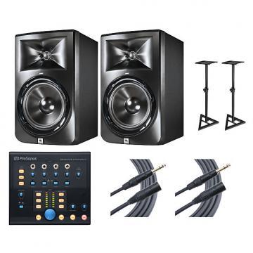 Custom 2x JBL LSR308 + Monitor Station V2 + Stands + Mogami Cables