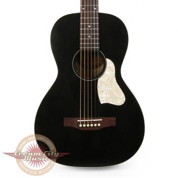 Custom Brand New Art & Lutherie Roadhouse Parlor Acoustic Electric Guitar in Faded Black