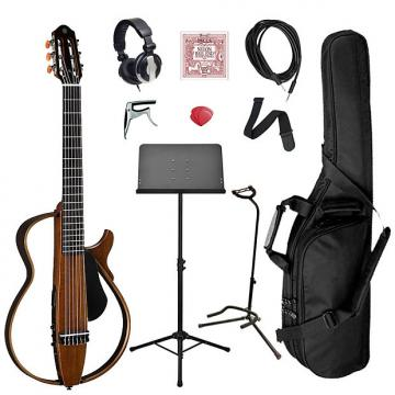 Custom Yamaha SLG200N Classical Silent Guitar Bundle - Natural