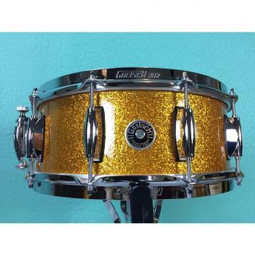 Custom Gretsch Brooklyn 14x5.5 Snare Drum Gold Sparkle