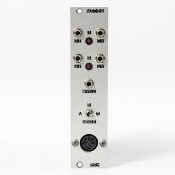 Custom Pittsburgh Modular MIDI2 Midi to CV converter Eurorack Module