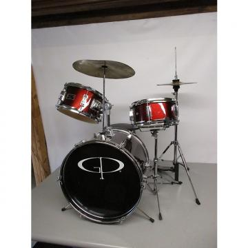 Custom GP Percussion 3 Pc Jr Drumset Red