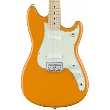 Custom Fender Duo-Sonic Capri Orange Offset Guitar