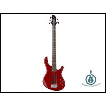 Custom Cort Action Bass Plus 5-String, JJ Pickup Set, 2-Band Eq, Lightweight, Trans Red, Free Shipping
