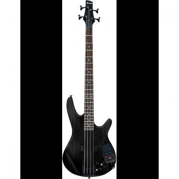 Custom Ibanez SRKP4 Weathered Black Bass Guitar with Korg Mini Kaoss Pad 2
