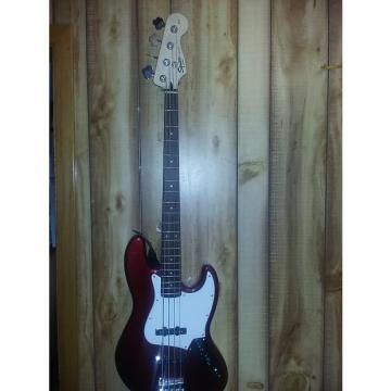 Custom Fender ,Bass, Guitar ,Squire,  2015, Burgandy