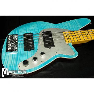 Custom Reverend Mercalli 5 - 20th Anniversary Bass 2017 Sky Blue Flame Maple - only one on Reverb!