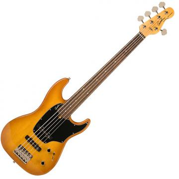 Custom new Godin Model #036707 Shifter 5 Classic HG RN Creme Brulee  5-string electric bass with gig bag