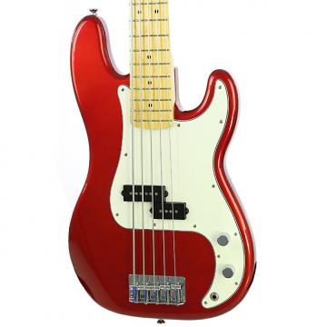 Custom Used Fender Squier Vintage Modified P Bass V Candy Apple Red