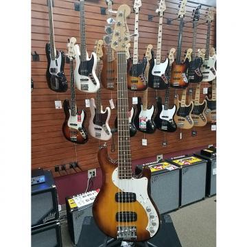 Custom Fender American Deluxe Dimension Bass V Violin Burst