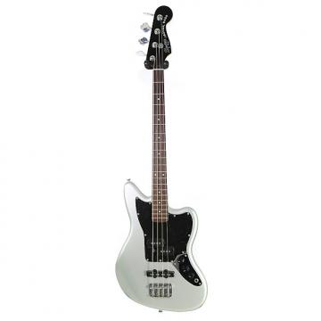 Custom Brand New Squier Vintage Modified Jaguar Bass Special SS Short Scale Silver